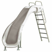 Sr Smith 610-209-5822 Rogue 2 Slide With Left Turn White 8and039 Ft For Swimming Pool