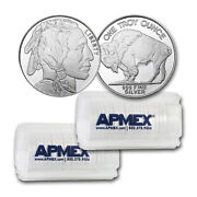 1 Oz Silver Round - Buffalo Lot Of 40 Rounds - .999 Fine Silver
