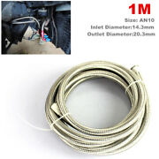 1m 10an Oil Cooler Cooling System Stainless Steel Braided Oil Fuel Line Hose Kit