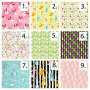Happy Easter Printed Digital Printed Cotton Fabric By The Yard