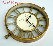 Antique Vintage Brass 12 Handcrafted Wall Clock Home Decor Collectible Gift