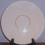Rare Discontinued Lenox China Savoy Maroon Tea Cup Saucer Only 5 3/4 Mint