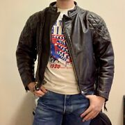 Vtg 60s Langlitz Cascade Horsehide Leather Motorcycle Jacket Size Small 38 Buco