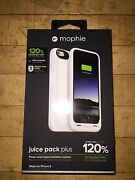 New White Mophie Juice Pack Plus External Battery Case For Apple Iphone 6 And 6s