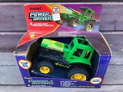 Vtg 1983 Buddy L Power Movers 4x4 Farm Tractor W Box Battery Operated