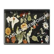 4'x3' Marble Black Dining Hallway Table Top Marquetry Inlay Furniture Decor E968