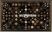 5and039x2.5and039 Marble Dining Table Top Inlay Marquetry Work Arts Patio Furniture Decor