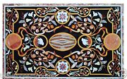 Size 4and039x2and039 Marble Dining Art Table Top Real Pietradure Inlay Scagliola Art Decor