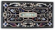 4and039x3and039 Marble Dining Table Elegant Pietra Dura Inlay Scagliola Stones Home Decor