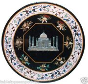 30x30 Marble Coffee Table Top Taj Mahal Inlay Marquetry Furniture And Home Decor