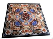 30x30 Marble Top Coffee Table Inlay Pietra Dura Mosaic Furniture Home Decor