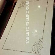 5and039x3and039 Handmade Marble Dining Italian Inlay Table Top Outdoor Hallway Decor E949