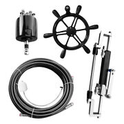 300hp Outboard Steering Cable Kit Boat Hydraulic Steering Compact Cylinder Set