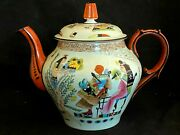 Jug And Teapot Porcelain And Towards 1900 And Egypt And Symbol Egyptian And Painting