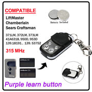 Replacement For Liftmaster 371lm 373lm Garage Door Remote Opener Easy To Program
