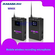 Mobile Wireless Recording Microphone For Live Broadcasting Interview Recording