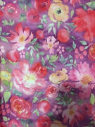 Nwt  Lularoe Cassie  Xl  Light Purple With Pink Red Peach Flowers Roses