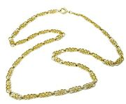 Scroll Link Luxurious 18k Gold Longchain Statement Necklace