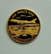 Air Force One Coin Washington Dc The United States Of America Gold Color