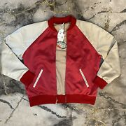 Leviand039s Vintage Climate Seal Bomber Jacket Menand039s Size Xl New Red Tan