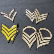 Lot Us Army Wwii 4 Chevrons Sets Sgt Patches