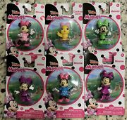 Minnie Mouse And Friends Mini Figurines Lot Of 6