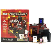 Lego 21106 Minecraft Micro World The Nether Complete With Box Ships Completed