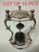 Antique Nautical Vintage Style Brass Black Sand Timer Table Top Hourglass Decor