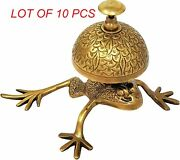 Brass Frog Design Counter Desk Bell Nautical Beautiful Unique Table Call Bell
