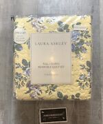 New Laura Ashley Linley Yellow Full/queen 3pc Quilt Set Reversible 100 Cotton