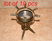 Antique Brass Nautical Gimbal Compass Vintage Shipand039s Compass With Tripod Stand