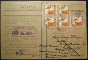 1940 Wwii Palestine British Army Oas Airmail Cover Sent Entirely Sea Via Convoy