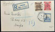 Palestine Mandate 1928 Mixed Franking Cover With Double Overprint Ba 71c Stamp