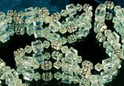 Art Deco Flapper Necklace 1920s 28 Crystal Cubes Beads Rhinestone Rondelles Fab
