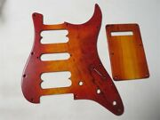 Maple Wood Strat Guitar Hsh Pickguard And Back Caver Backplate Brown Color