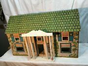 Large Rich Toys Wood German Cottage 6 Room Doll House 30inx 18in X 10in