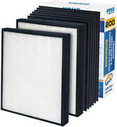 Veva Premium 2 Hepa Replacement Filter Pack 6 Activated Carbon Pre Filters New