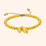 3d Hard Gold Bracelet For Women Lotus Unique Crafts Beads 4mm Gold Bead Chain