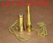 Antique Vintage Maritime 2 Brass Kaleidoscope And 2 Telescope With Brass Chain