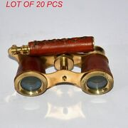 Description Material Brass Glass And Leather Finish Shiny Polish Finish The