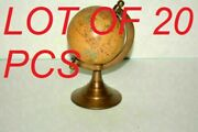 Antique Tabletop World Map Globe Nautical With Brass Base Desk Top Table Decor