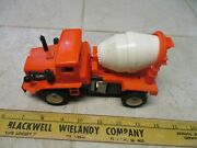 Vtg Orange Marx Construction Cement Truck Battery Operated B/o Toy Plastic Rare