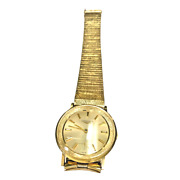 1970s Longines 14k Yellow Solid Gold Swiss Made Wrist Watchsmall Second Hand