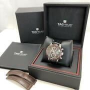Auth Tag Heuer Watch Carrera Calibre 16 Cv2013.fc6206 Case 40mm At Brown F/s