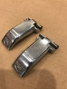 1968-70 Amc Amx Javelin Chrome Metal Lock Levers With Clips Rare