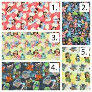 Lilo And Stitch Printed Digital Printed Cotton Fabric By The Yard