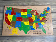 Vintage Sifo Commercial Map Of The United States Wooden Puzzle