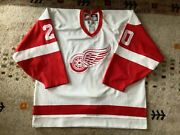 Authentic Center Ice Nike Martin Lapointe Detroit Red Wings Hockey Jersey 56