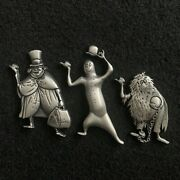 Disney Wdi Pins Haunted Mansion - 3d Sculpted Silver Hitchhiking Ghosts - Le 250