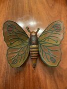 Antique Tin Clockwork Wind Up Bug / Butterfly Made In Usa Toy Near Mint